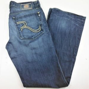 Mens Rock & Republic Button Fly Henlee Jeans - 36
